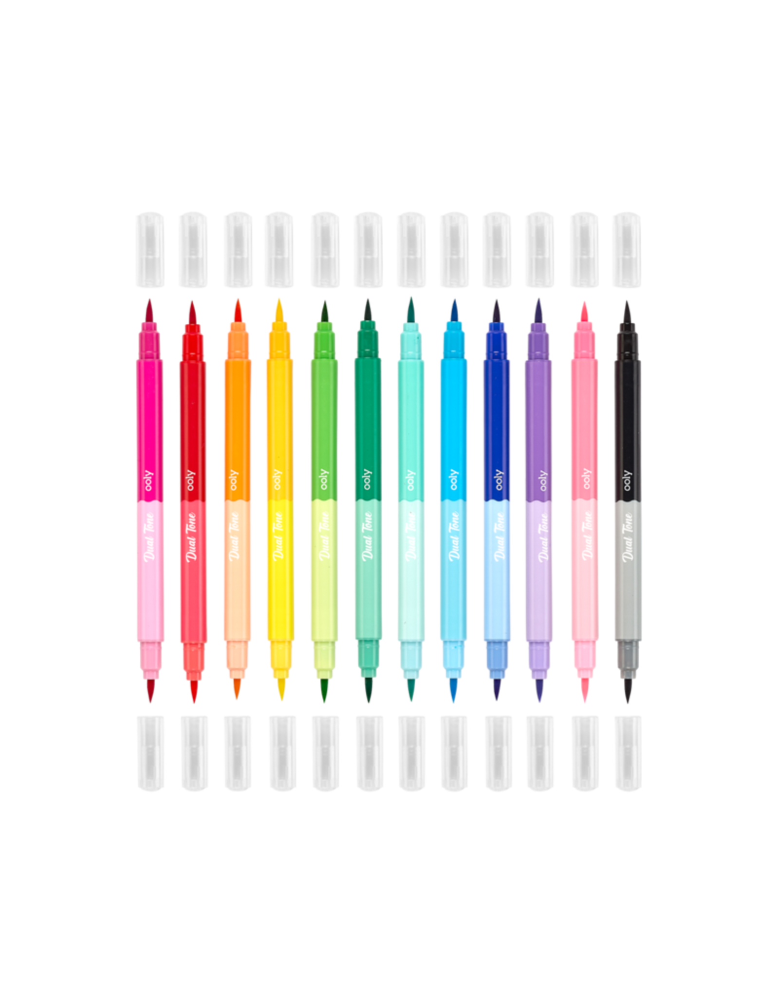 Ooly Dual Tone Double Ended Brush Marker - Set Of 12/24 Colors