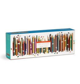 Galison Frank Lloyd Wright Colored Pencils Shaped 1000 Piece Panoramic Puzzle