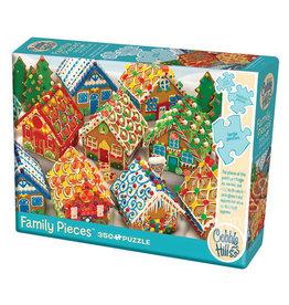 Cobble Hill Puzzles Gingerbread Houses (Family) 350 Pcs Puzzle
