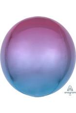 "Ombre Orbz Pink ,Purple Blue 16"" Xl"