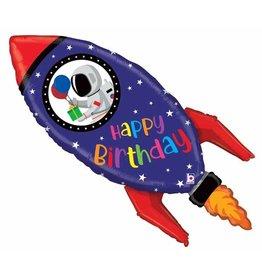 "Birthday Rocket 40"" Shape"