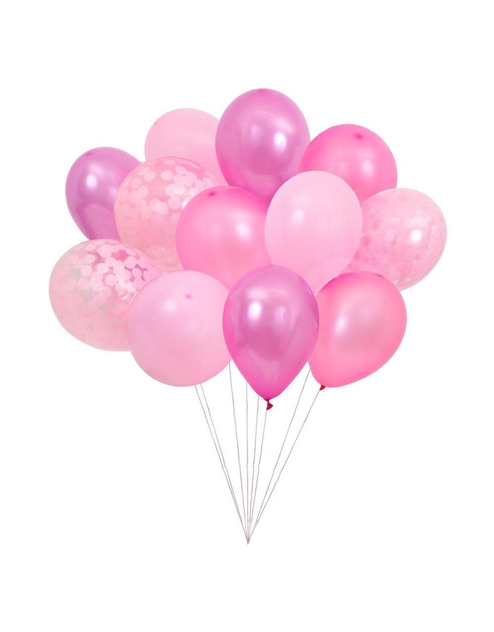 Meri Meri Beautiful Balloons Pink Set of 12