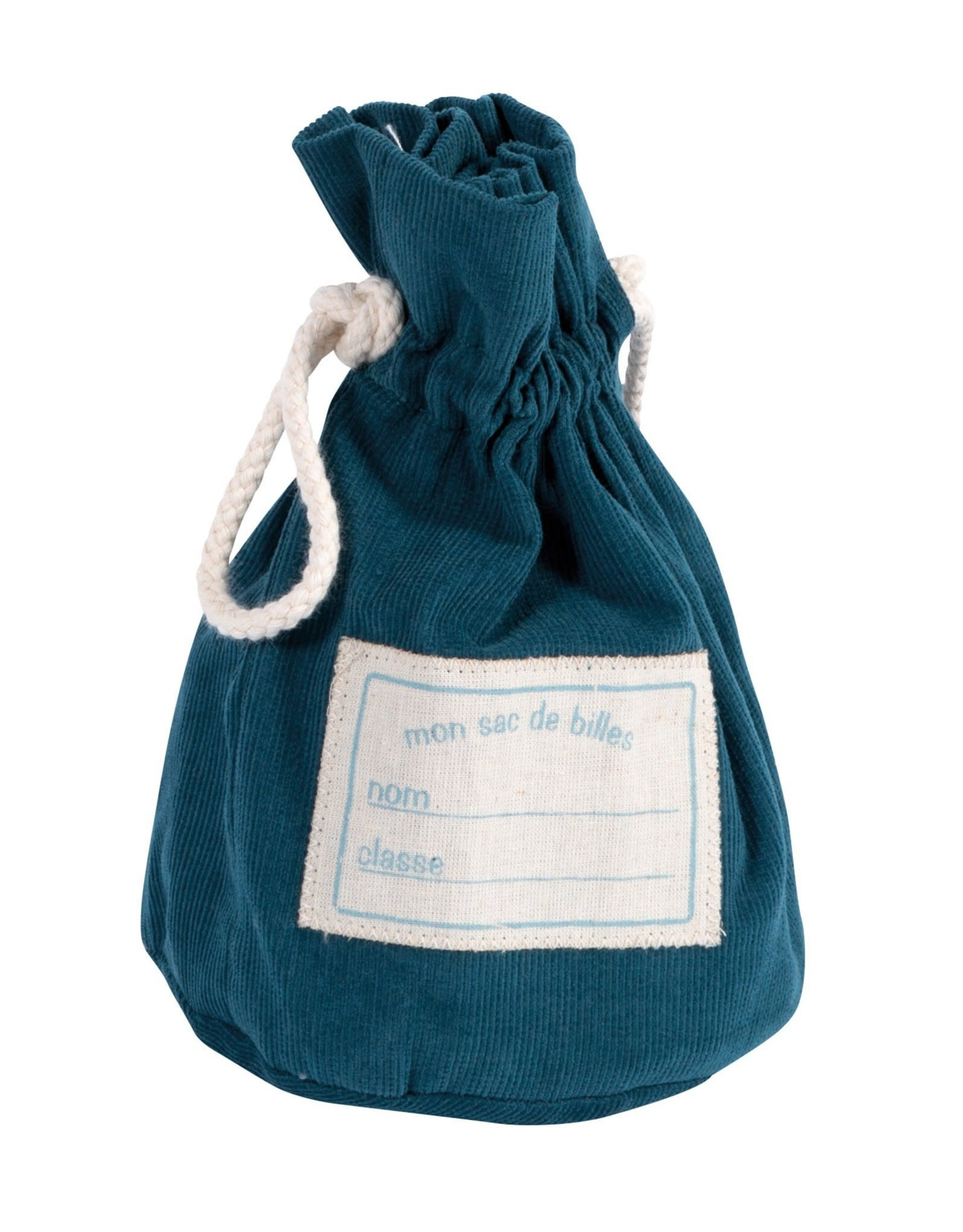 Moulin Roty Bag of Marbles Teal