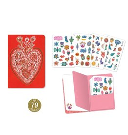 Djeco Aurelia Stickers Notebook (79 Pcs)
