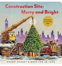 Chronicle Books Construction Site: Merry and Bright  A Christmas Lift-the-Flap Book