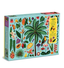 Galison Tropics 1000 Piece Puzzle with Shaped Pieces
