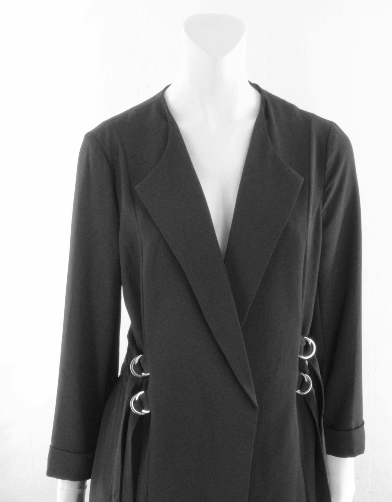 Black Tape 3/4 Sleeve Soft Blazer
