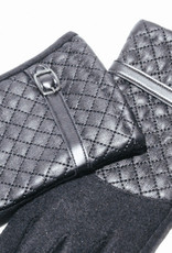 Venera Seta Quilted Faux Leather Gloves