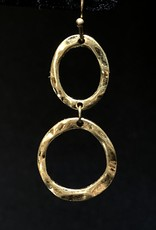 Garbo Double Circle Drop Earrings