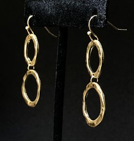 Garbo Double Circle Drop Earrings