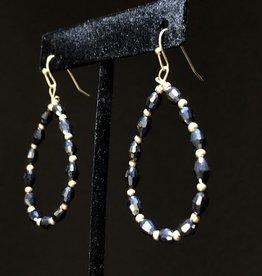 Garbo Teardrop Glitter Earrings