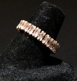 MERX Jewelry All-around Crystal Adjustable Ring
