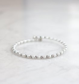 Statement Grey Cece Adjustable Bracelet