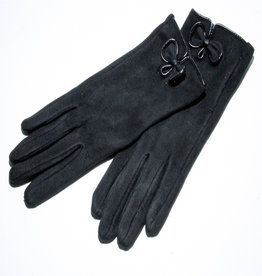 Venera Seta Suede Bow Gloves