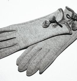 Venera Seta Pom-pom Gloves