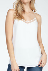 Black Tape CLEARANCE: Double Layer Lace Trim Camisole