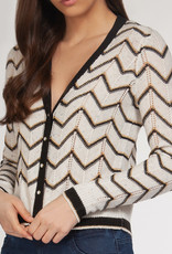 Dex CLEARANCE: Zig Zag Pointelle Cardigan
