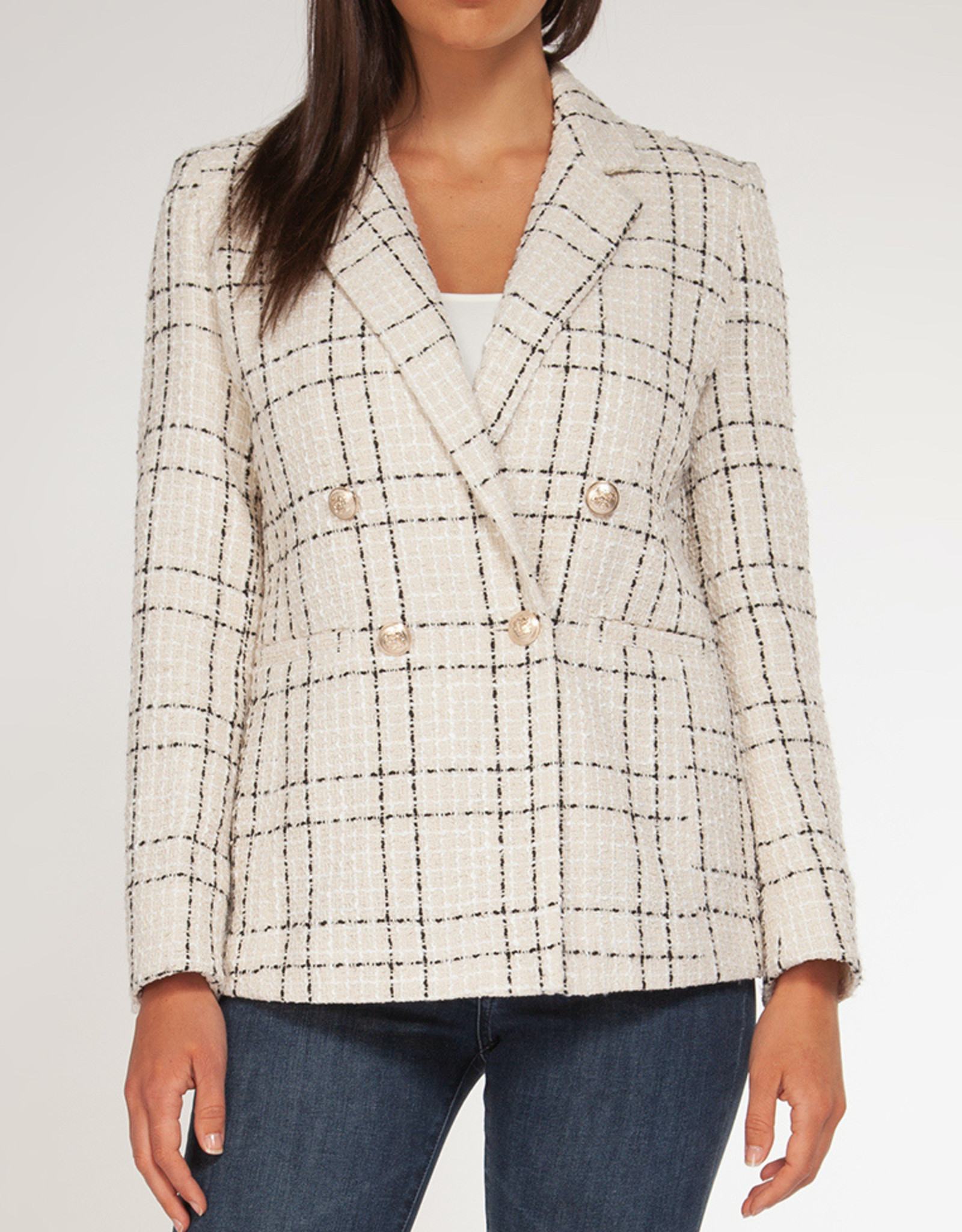 Black Tape CLEARANCE: Double Breasted Tweed Blazer