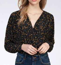 Dex CLEARANCE: Floral Wrap Top