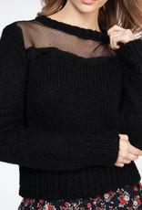 Dex Sheer Neck Sweater