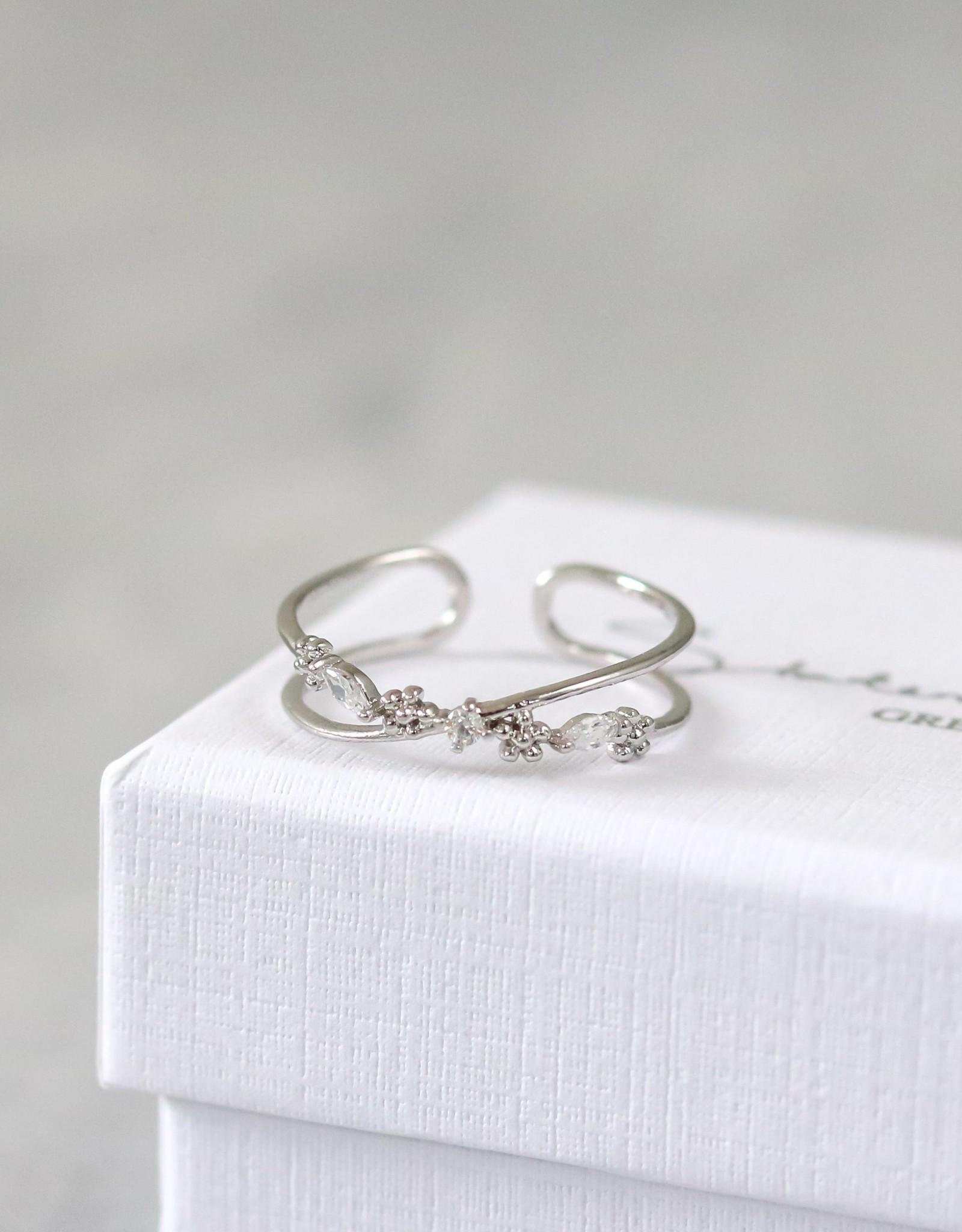 Statement Grey Harv Adjustable Ring