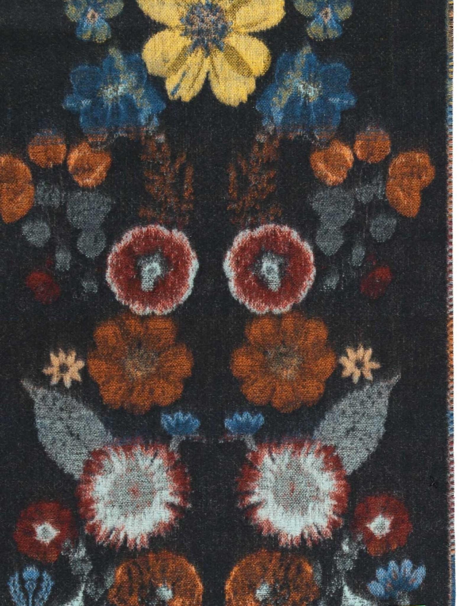 FRAAS Pressed Floral Woven Cashmink Scarf