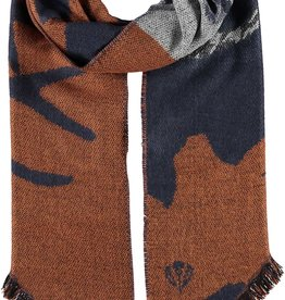 FRAAS Antlers Woven Scarf with Bias Fringe