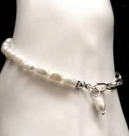 MERX Jewelry Chain and Fresh Water Pearl Bracelet