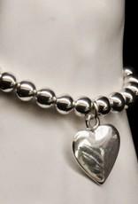 MERX Jewelry Heart charm and bead bracelet