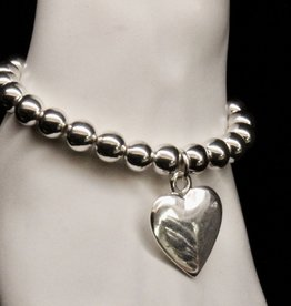 MERX Jewelry Heart charm and bead bracelet