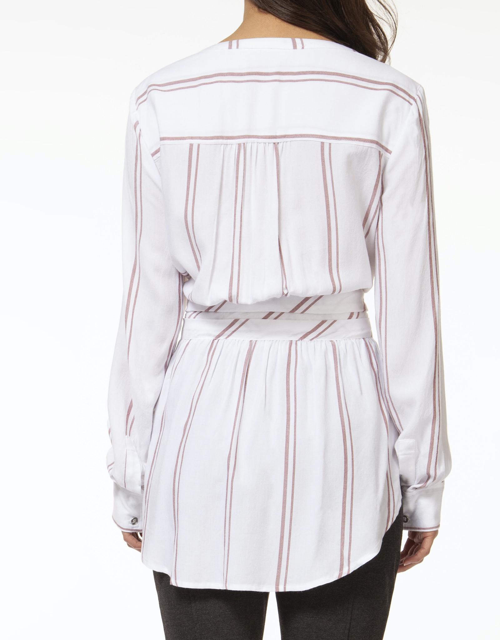 Black Tape Stripe Tunic with Belt Detail