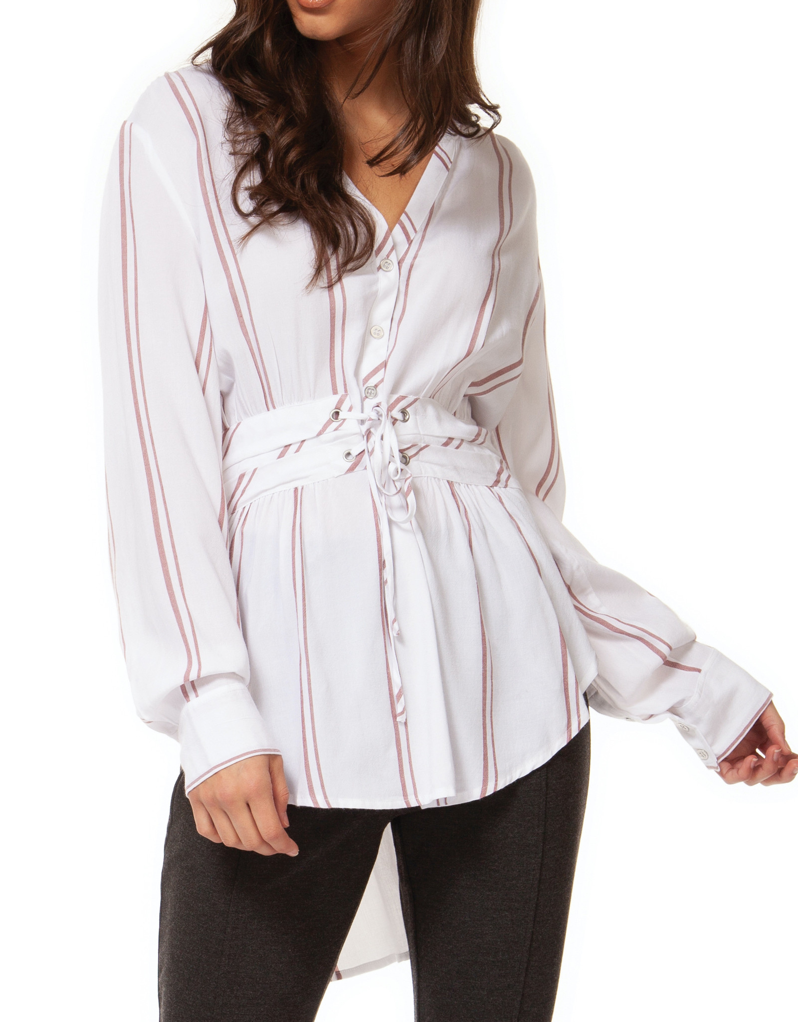 Black Tape CLEARANCE: Stripe Tunic with Belt Detail