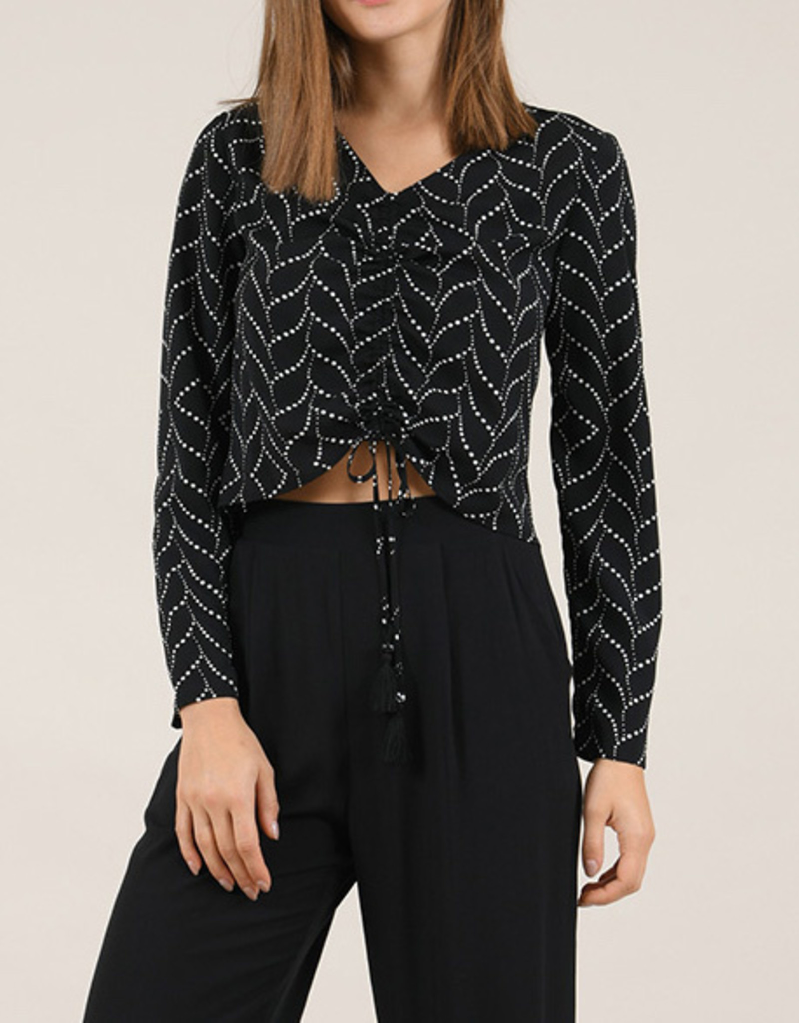 Molly Bracken CLEARANCE: Front Gathered Blouse
