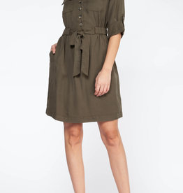Dex Tencel Utility Shirt Dress