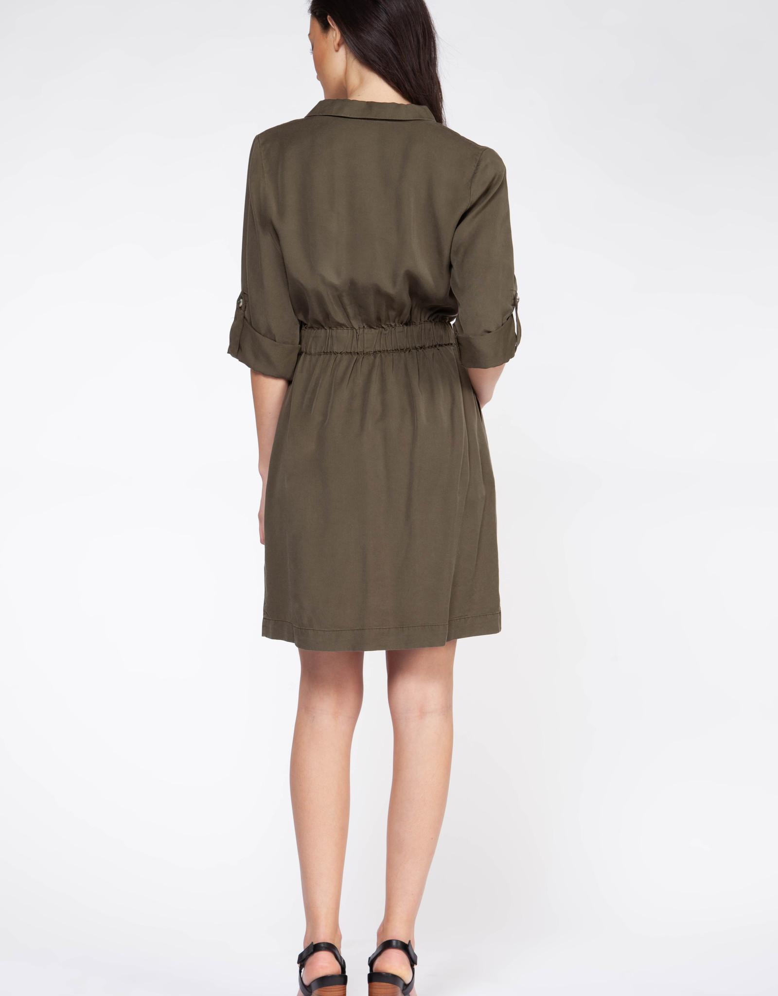 Dex Tencel Utility Shirt Dress
