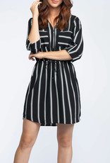 Dex CLEARANCE: Striped Shirt Dress