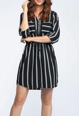 Dex Striped Shirt Dress