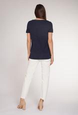 Dex CLEARANCE: Metallic Jersey V-Neck T-Shirt