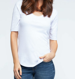 Dex CLEARANCE: Ribbed Scoop Neck T-Shirt