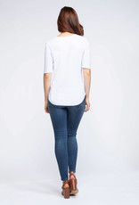 Dex Ribbed Scoop Neck T-Shirt