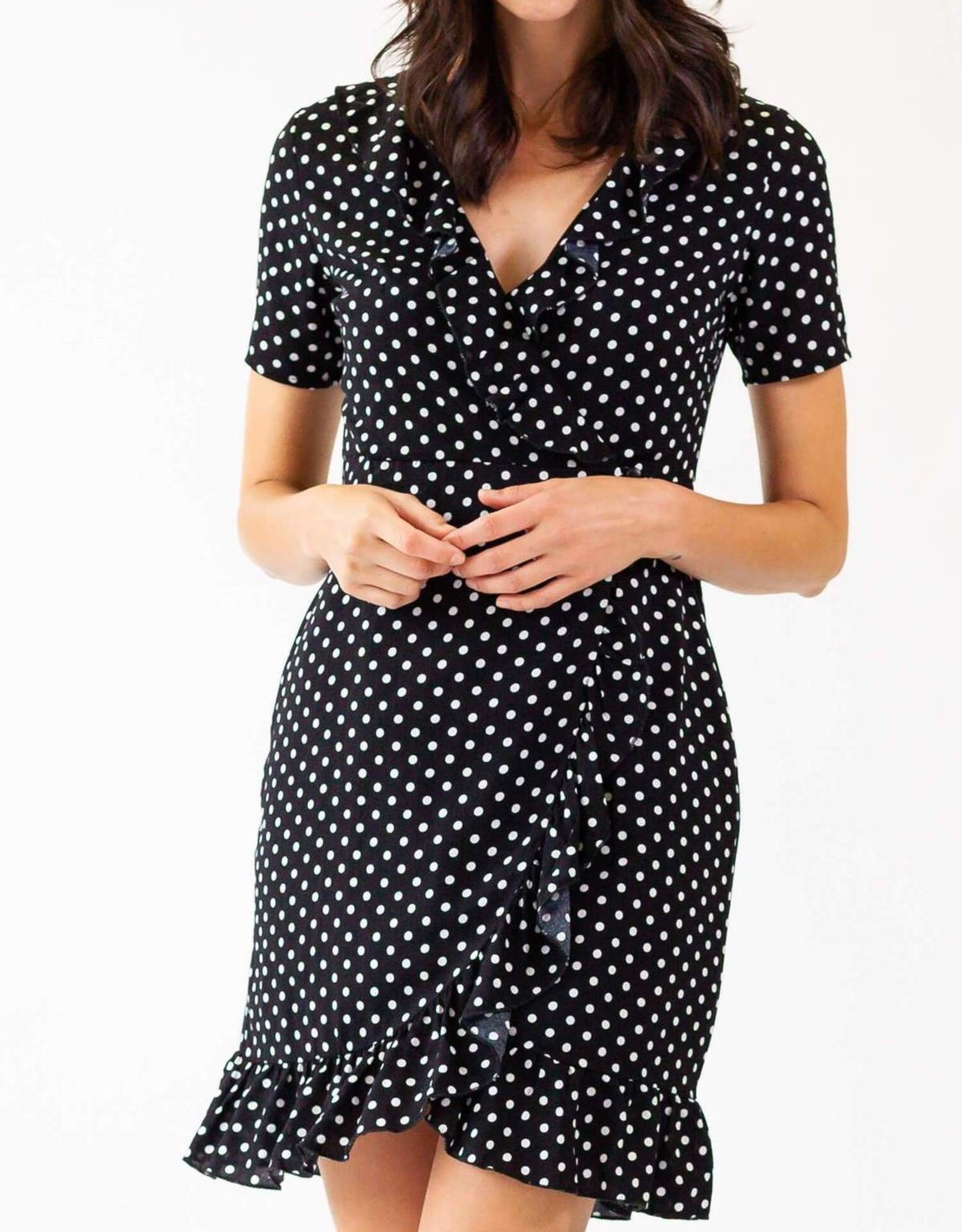 Pink Martini Boho-Chic Polka Dotted Dress