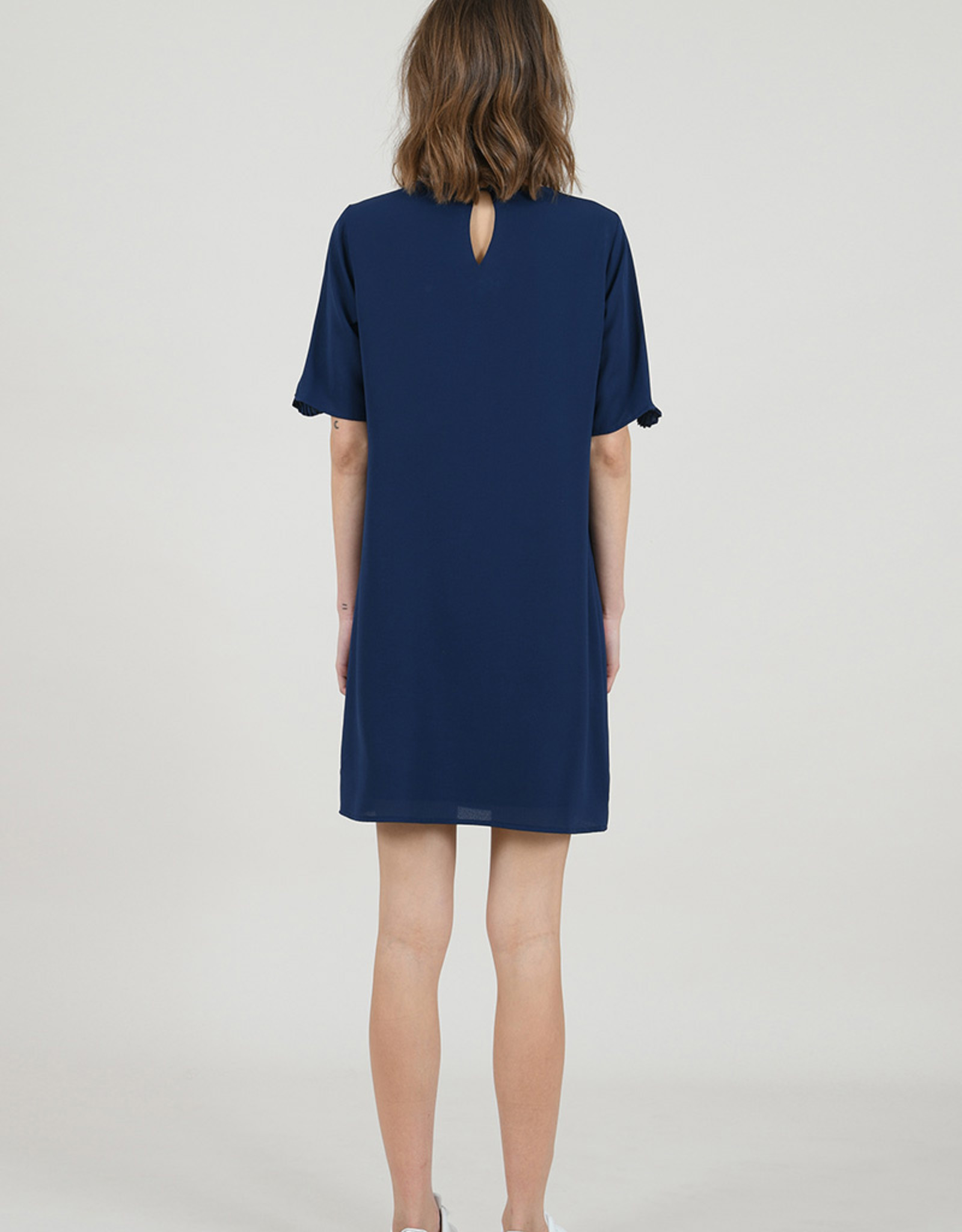 Molly Bracken Shift Dress with Pleated Details
