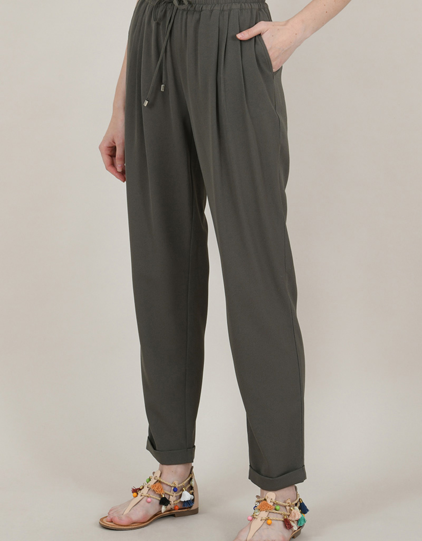 Molly Bracken High Waist Tapered Pull-on Pant