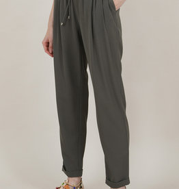 Molly Bracken CLEARANCE: High Waist Tapered Pull-on Pant