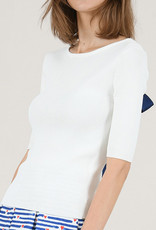 Molly Bracken Ribbed Bow Back Sweater Top