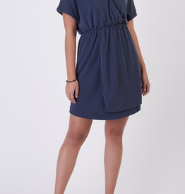 Black Tape V-neck Knit Dress