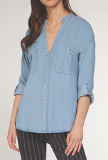 Dex CLEARANCE: Tencel Roll Sleeve Utility Shirt