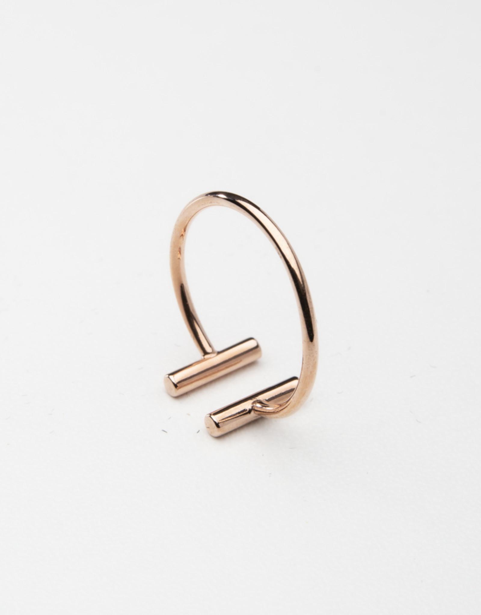 Statement Grey Parallel Bar Ring