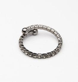MERX Jewelry Black Crystal Ring