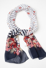 Garbo Floral and Stripe Scarf